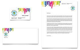 Kids Art Camp - Business Card & Letterhead Design Template