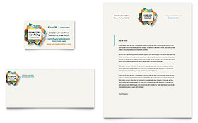 Writer's Workshop - Business Card & Letterhead Design Template