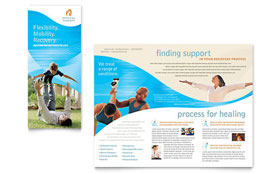 Physical Therapist - Brochure Design Template