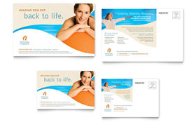 Physical Therapist - Postcard Design Template