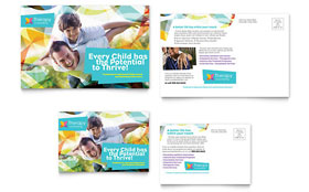 Adolescent Counseling - Postcard Design Template