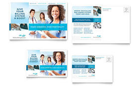 Medical Billing & Coding - Postcard Design Template
