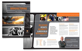 Manufacturing Engineering - Brochure Design Template