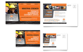 Manufacturing Engineering - Postcard Design Template