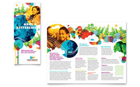Tri-Fold Brochure - Adobe Illustrator Template
