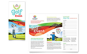 Charity Golf Event - Brochure Design Template