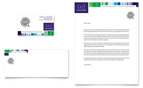 Business Leadership Conference - Business Card & Letterhead Template