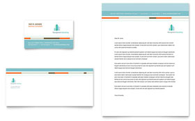 Management Consulting - Business Card & Letterhead Template