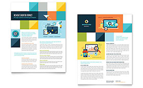 Advertising Company - Datasheet Design Template