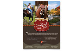 Horse Riding Stables & Camp - Flyer Design Template