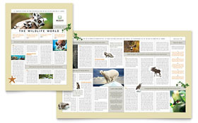Nature & Wildlife Conservation - Newsletter Design Template