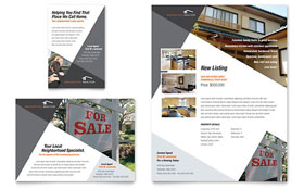 Contemporary & Modern Real Estate - Flyer & Ad Design Template