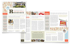 Real Estate Home for Sale - Newsletter Template