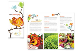 Flower Shop - Tri Fold Brochure Template