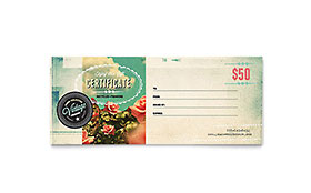 Vintage Clothing - Gift Certificate Template