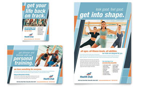 Health & Fitness Gym - Flyer & Ad Design Template