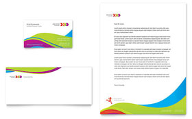 Personal Trainer - Business Card & Letterhead Design Template