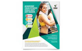 Fitness Trainer - Flyer Design Template