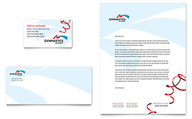 Gymnastics Academy - Business Card & Letterhead Design Template