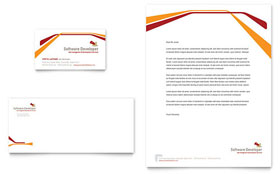 Software Developer - Business Card & Letterhead Design Template