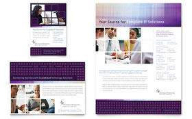 Information Technology Consultants - Flyer & Ad Template