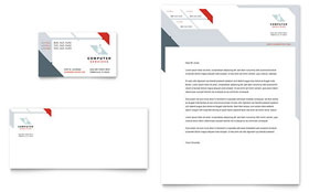 Computer Solutions - Business Card & Letterhead Design Template