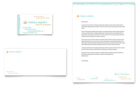 Travel Agency - Business Card & Letterhead Template