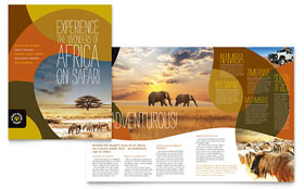 African Safari - Brochure Design Template