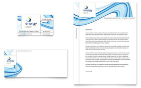 Renewable Energy Consulting - Business Card & Letterhead Design Template