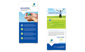 Green Living & Recycling - Rack Card Design Template