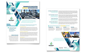 Oil & Gas Company - Datasheet Design Template