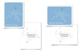 Ice Skating - Greeting Card Design Template