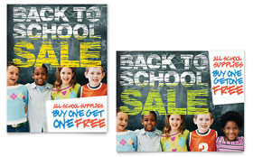 Back to School - Sale Poster Design Template