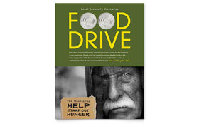 Holiday Food Drive Fundraiser - Flyer Template