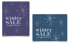 Snowflake Wishes - Sale Poster Design Template