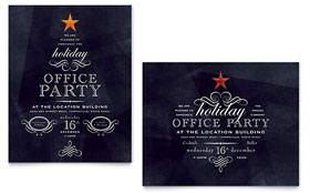 Office Holiday Party - Poster Design Template