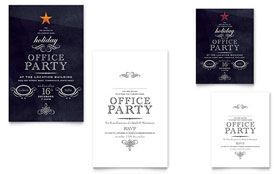 Office Holiday Party - Note Card Design Template
