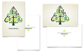 Contemporary Christian - Greeting Card Design Template