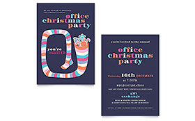 Christmas Party - Invitation Template
