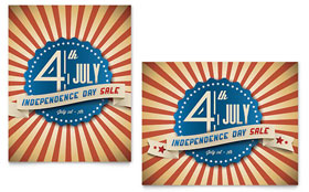 4th of July - Sale Poster Design Template
