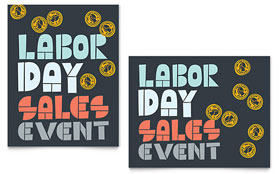 Labor Day - Sale Poster Design Template