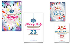 Holiday Party - Note Card Design Template