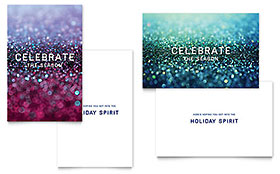 Glittering Celebration - Greeting Card Design Template