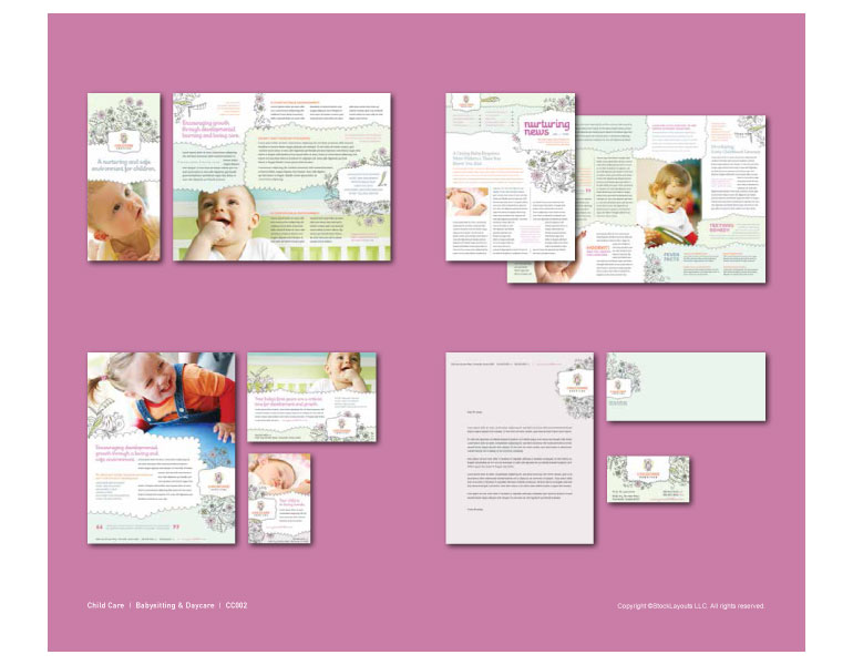 child care graphic design catalog page sample - Graphic Design Portfolio Ideas