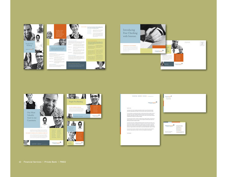 Private Bank Graphic Design Catalog Page Sample