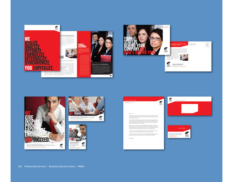 Business Coach Graphic Design Catalog Page Sample