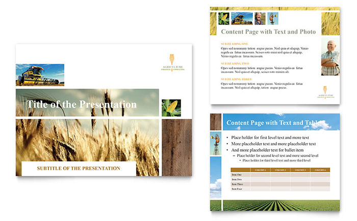 farming  agriculture powerpoint presentation template design, Templates