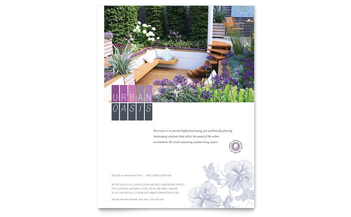 Urban Landscaping Flyer Template Design