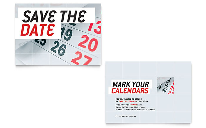 Save the date announcement template design for Conference save the date template