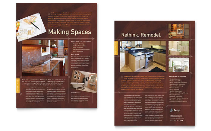 Home Remodeling FlyerAd Template Design